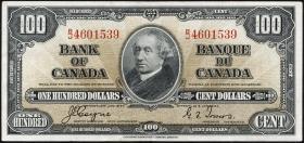 Canada P.064c 100 Dollars 1937 (2)