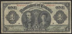 Canada P.027b 1 Dollar 1911 Earl & Countess of Grey (4)