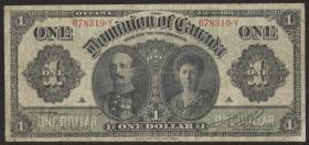 Canada P.027b 1 Dollar 1911 Earl & Countess of Grey (4)