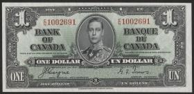 Canada P.058e 1 Dollar 1937 (1)