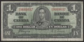 Canada P.058e 1 Dollar 1937 (3)