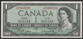 Canada P.074b 1 Dollar 1954 (1955-72) (1)
