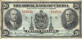 Canada  P.S1393 20 Dollars 1935 (3)