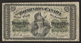 Canada P.008a 25 Cent 1870 (4)