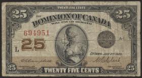 Canada P.011c 25 Cent 1923 (4)