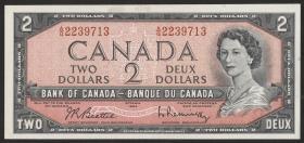 Canada P.076b 2 Dollars 1954 (1961-72) (1)