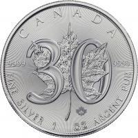 Canada Silber-Unze 2018 Maple Leaf (30 Jahre)