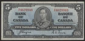 Canada P.060c 5 Dollars 1937 (3-)