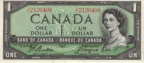 Canada P.074a 1 Dollar 1954 (1955-61) (1)
