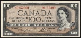 Canada P.082c 100 Dollars 1954 (2)
