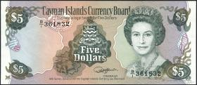 Cayman-Inseln P.12 5 Dollars 1991 (1)