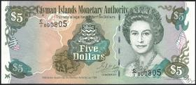 Cayman-Inseln P.22 5 Dollars 1998 (1)