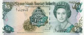 Cayman-Inseln P.34a 5 Dollars 2005  Serie C/1 1)