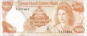 Cayman-Inseln P.11 100 Dollars 1974 (1981) (1)