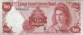Cayman-Inseln P.07a 10 Dollars 1974 (1981) (1)