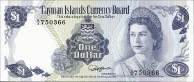Cayman-Inseln P.05b 1 Dollar 1974 (1985) (1)