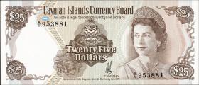 Cayman-Inseln P.08a 25 Dollars L. 1974 (1)