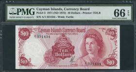 Cayman-Inseln P.03 10 Dollars (1972) (1)