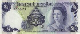Cayman-Inseln P.05a 1 Dollar 1974 (1985) (1) low number