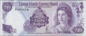 Cayman-Inseln P.09a 40 Dollars L.1974 (1981) (1)