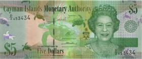 Cayman-Inseln P.39b 5 Dollars 2014 (2018) (1)