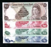 Cayman-Inseln P.01 - 04 a 1 Dollar (1971) A/1 000061 (1)