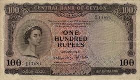 Ceylon P.53 100 Rupien 1952 (3)