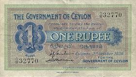 Ceylon P.16b 1 Rupie 1939 (3)