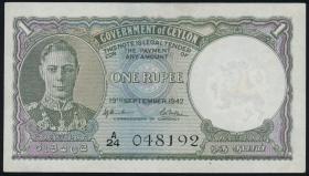 Ceylon P.34 1 Rupie 1942 (1-)