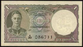 Ceylon P.34 1 Rupie 19.9.1942 (1)