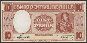Chile P.120 10 Pesos (1958-59)  (1/1-)