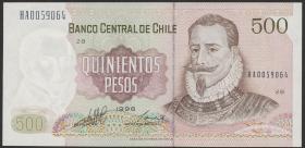 Chile P.153e 500 Pesos 1996 (1)