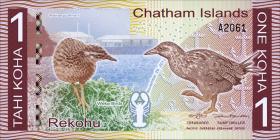 Chatham Islands/ Neuseeland P.neu 1 Tahi Koha (2014) Privatausgabe (1)