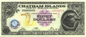 Chatham Islands/ Neuseeland P.neu 8 Dollars 2001 (1)