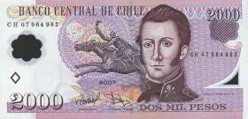 Chile P.160a 2000 Pesos 2004 Polymer (1)