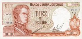 Chile P.148 10000 Escudos (1967-76) (1)