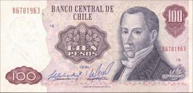 Chile P.152b 100 Pesos 1981 (2)