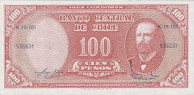 Chile P.127 10 Centesimos auf 100 Pesos (1960-61) (1)