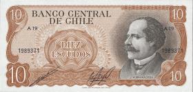 Chile P.143 10 Escudos (1967-76) (1)