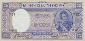Chile P.110 5 Pesos = 1/2 Condor (1947-58) (1)
