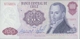 Chile P.152b 100 Pesos 1981 (1)