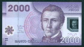 Chile P.162b 2000 Pesos 2012 Polymer (1)