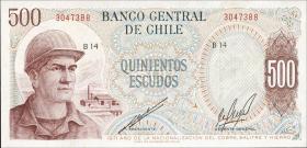 Chile P.145 500 Escudos 1971 (1)