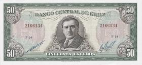 Chile P.140b 50 Escudos (1962-75) (1)