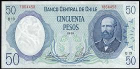 Chile P.151b 50 Pesos 1981 (1)