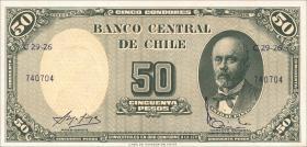 Chile P.126 5 Centesimos auf 50 Pesos (1960-61) (1)
