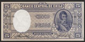 Chile P.119 5 Pesos = 1/2 Condor (1958-59) (1)