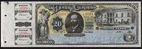 Chile El Banco de Curico P.S220 20 Pesos (1882) (1)