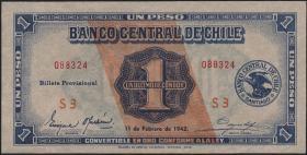 Chile P.089 1 Peso 1942 (1)