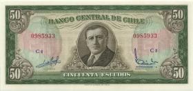 Chile P.140a 50 Escudos (1962-75) (1)
